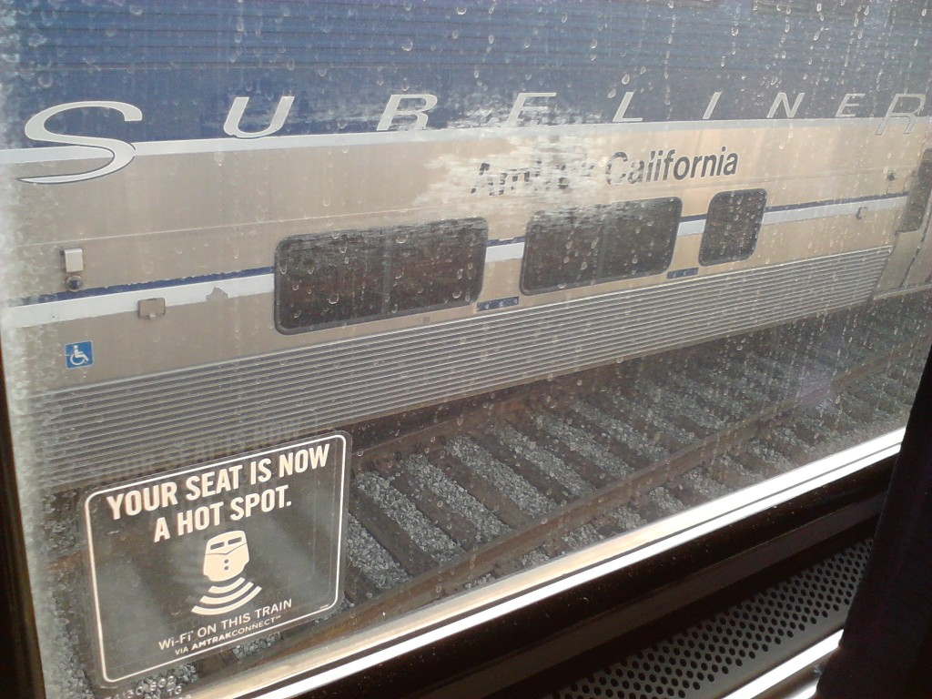 Surfing the Web from the Pacific Surfliner