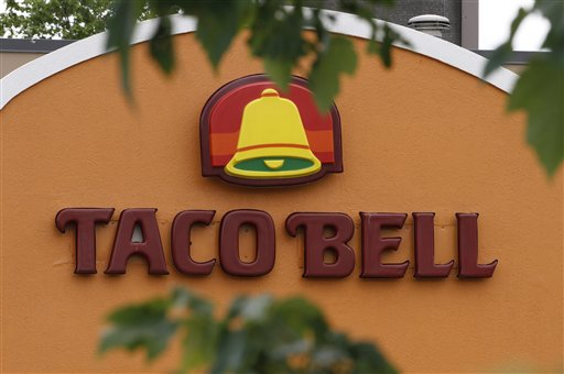 Taco Bell sign - FILE-This Wednesday, June 6, 2012, file photo shows a Taco Bell restaurant in Richmond, Va. (AP Photo/Steve Helber, File)
