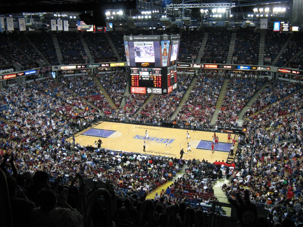 A view of Power Balance Arena during the Portland Trail Blazers - Sacramento Kings game on April 15, 2012, in Sacramento, Calif.