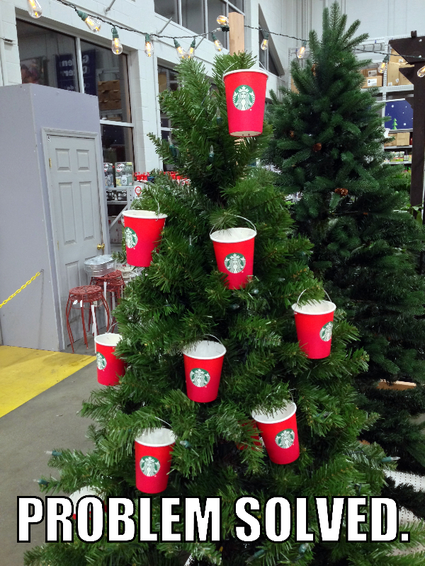 Hopefully everyone will be happy with this solution for the Starbucks holiday cup controversy.